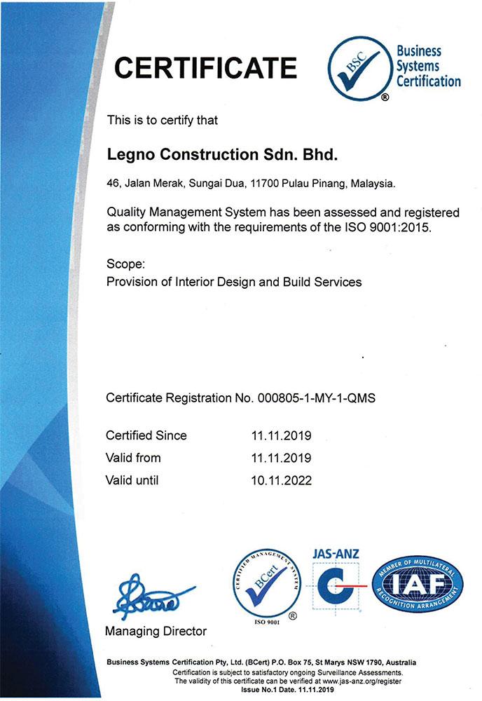 ISO 9001:2015 IAF